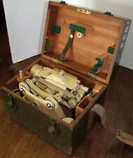 CL Berger ML1922 Transit With Case And Tripod Vintage CL Berger Military Transit