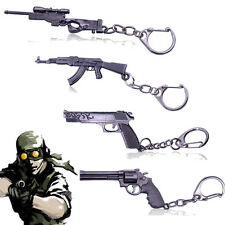 Revolver Pistol ​Sniper Rifle Weapon Gun Model Metal Keychain Mini Key Ring