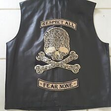 """Respect All Fear None"" Iron-on Embroidery Emblem Badge Patch Biker Applique"
