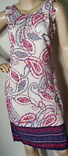 "Ladies ""New"" Cream Paisley Print Shift Dress from Dorothy Perkins"
