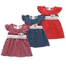 Lovely Baby Girl Princess Summer Dress Child Lace Polka Dots Dress Size 1-4Years