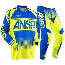 Answer NEW Mx 2017.5 ANSR Syncron Acid Blue Motocross Dirt Bike BMX Gear Set