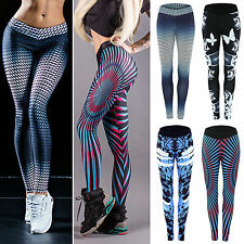 Women's Fitness Gym Yoga Running Leggings Stretchy Long Pants Athletic Trousers