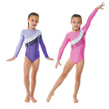 Girls long sleeved gymnastics leotard by Tappers & Pointers gym 19