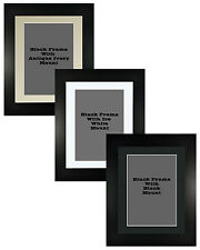 Picture Frame Matt Black Handmade 35mm With 3 Mount Options 18no Frame Sizes