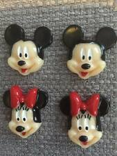4 x Minnie Mickey Mouse Resins  Flatback Cabachons Hair Bow Cake Topper