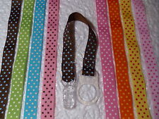 """5/8"""" POLKA DOTS MAM DUMMY CLIPS (Batch 5 of  5)  - DUMMY/SOOTHER/PACIFIER CLIPS"""