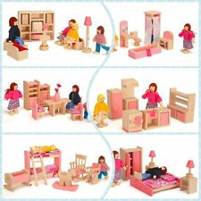 Furniture Dolls House Miniature 6 Rooms Type Learn Toys For Kids Children
