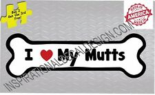 I Love My Beagle Dog Breed  Decal Sticker Made in America