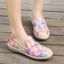 Womens Shoes Floral Fashion Sneakers Summer Ballet Flats Oxfords Sandals Shoes