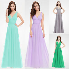 Ever Pretty Women V-neck Long Evening Bridesmaid Party Prom Formal Dresses