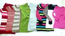 DKNY GYMBOREE H&M PLACE Girls NORDIC COLORBLOCK Knittd TUNIC SWEATER DRESS 5 - 6