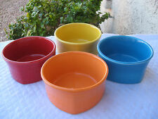 "FIESTAWARE NEW RETIRED ""SQUARE"" MADE IN USA SOUP/CEREAL4 BOWLS SET"