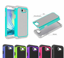 For Samsung Galaxy J3 Emerge Hybrid Hard Dual layer Protective Phone Case Cover