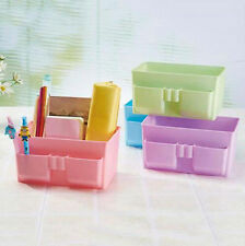 DIY Desk Makeup Case Organizer Decor Storage Box Plastic Stationery Cosmetic