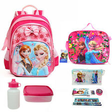 "New 13 ""Cute Frozen Girls Backpack Kids Elsa Shoulder Lunch Bag Pencil Case"