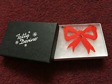 Tatty Devine Small Red Bow Necklace Brand New