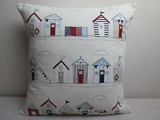 Fryetts Beach Huts Nautical Seaside Cushion Covers Square & Rectangular/Bolster