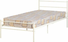 SILVER BLACK WHITE 3FT SINGLE METAL BED FRAME