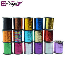 1 roll 2000m Hair Tinsel Thread Hair Extension Salon Grade Silk Tinsel 16 Colors
