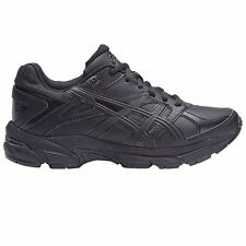 Asics Gel 190TR LEATHER JUNIOR CROSS TRAINING SHOES, BLACK- Size US 1, 2, 3 Or 4