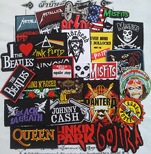 Iron On Patch Rock Music Logo Heavy Band Skull Sew Embroider Patches