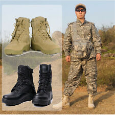 HOT Mens Army Tactical Comfort Desert Leather Ankle Shoes Combat Military Boots