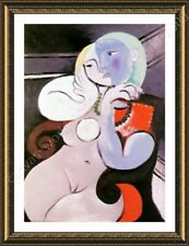 Alonline Art - FRAMED Poster Nude Woman In A Red Armchair Pablo Picasso