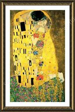 Alonline Art - FRAMED Poster The Kiss Gustav Klimt Framed Print Framed Wall Art