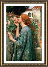 Alonline Art - FRAMED Poster The Soul Of The Rose Waterhouse Oil Painting Print