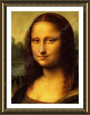 Alonline Art - FRAMED Poster La Gioconda Leonardo Da Vinci Wall Art Pictures