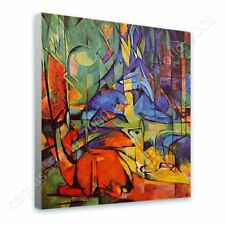 Alonline Art - READY TO HANG CANVAS Deer In The Forest 2 Franz Marc Framed Art