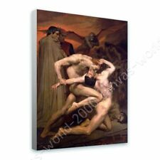 READY TO HANG CANVAS Dante And Virgil In Hell William Bouguereau Framed Decor