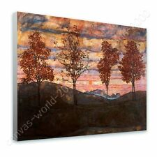 Alonline Art - READY TO HANG CANVAS Four Trees Egon Schiele Oil Painting Print