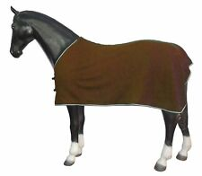 Clearence New Fleece Horse Rug Show Travel Stable Cooler Sheet Brown All Sizes