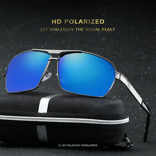 Mens Polarized Aviator Metal Sunglasses Outdoors Driving Fishing Glasses Eyewear