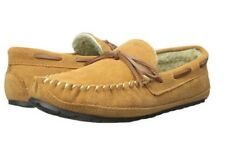 Tamarac by Slippers Men's Leather Moccasin Slipper Indoor Outdoor Tan Size 910M