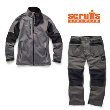 Scruffs Pro Softshell Jacket and Worker Plus Trousers Graphite Grey Mens Work