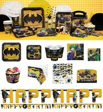 Lego Batman Movie Birthday Party Supplies Tableware Plates Cups Napkins Favours