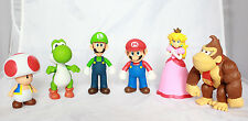 "Super Mario brothers Action Figure Collection 5"" Luigi Yoshi Kong Peach Toad NEW"