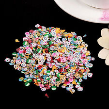 1000x Nail Art Mix Design Fimo Slices Polymer Clay Stickers Decoration New US