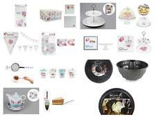 AFTERNOON TEA PARTY SELECTION CAKE STANDS BOXES BUNTING TABLECLOTH TEAPOT