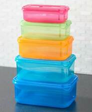 10pc COLORFUL NESTING VENTED LID FOOD STORAGE BOWLS Microwave Dishwasher Safe