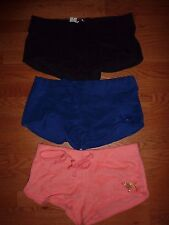 VICTORIAS SECRET PINK BLING SEQUIN TERRY DOG SHORTS NWT