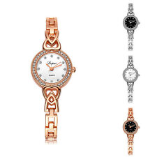 Lady Rhinestone Hollow Love Thin Band Quartz Bracelet Wrist Watch Hot Sale