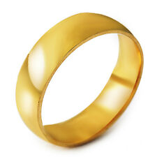 Wedding Womens Mens gold filled Promise Smooth Band Ring Size 8-11