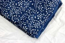 Natural block hand print blue color 100% cotton fabric indigo print fabric Yards