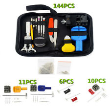 6/11/144 Pcs Watch Repair Kit Case Opener Pins Link Remover Spring Bar Tool Set