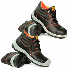 NEW MENS SAFETY STEEL TOE CAP BOYS BOOTS LEATHER SHOES WORK TRAINERS SIZE 6-11