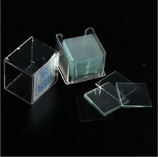 "Thickness 0.006"" Pre-Cleaned Microscope Glass Cover Slides Coverslips 100PCS/Box"